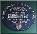 Photo of Solomon Theakston blue plaque