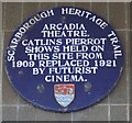 Photo of Futurist Cinema, Will Catlin, and Catlin's Royal Pierrots blue plaque
