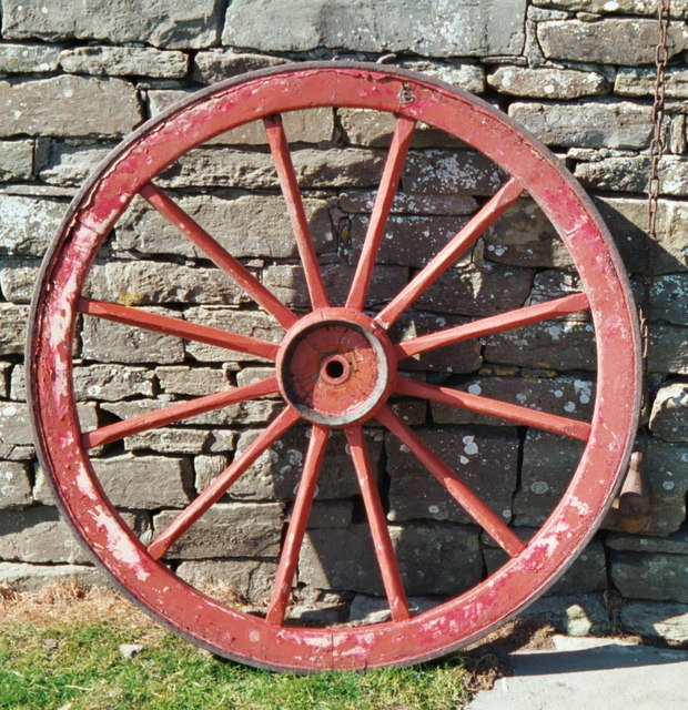 Wagon wheel, Corrigall Farm Museum