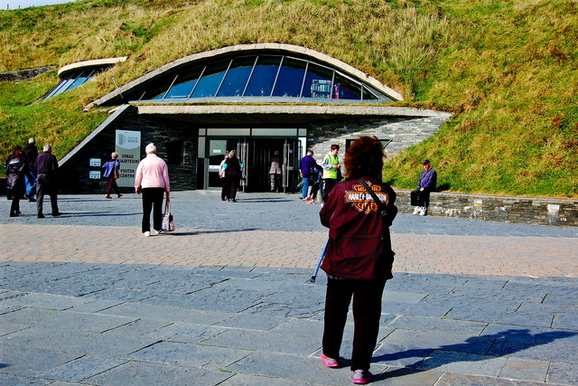 Cliffs of Moher - Entrance to Visitor Centre built into Hillside