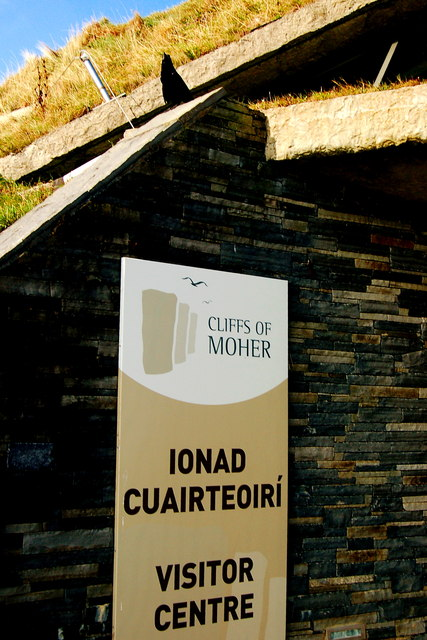 Cliffs of Moher - Rook greeting Visitors to Visitor Centre
