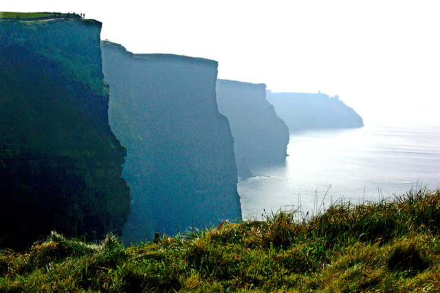 Cliffs of Moher - View of cliffs from view point