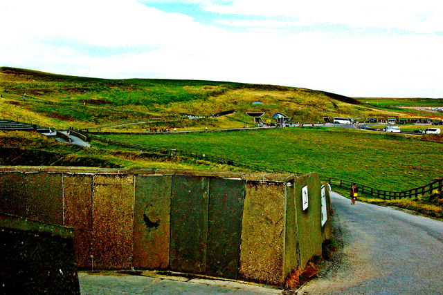 Cliffs of Moher - View towards Visitor Centre from Cliffs