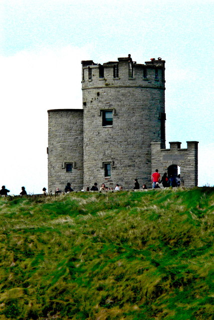 Cliffs of Moher - Zoomed-In View of O'Brien's Tower
