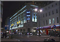 TQ3080 : Strand Palace Hotel at night by Anthony O'Neil