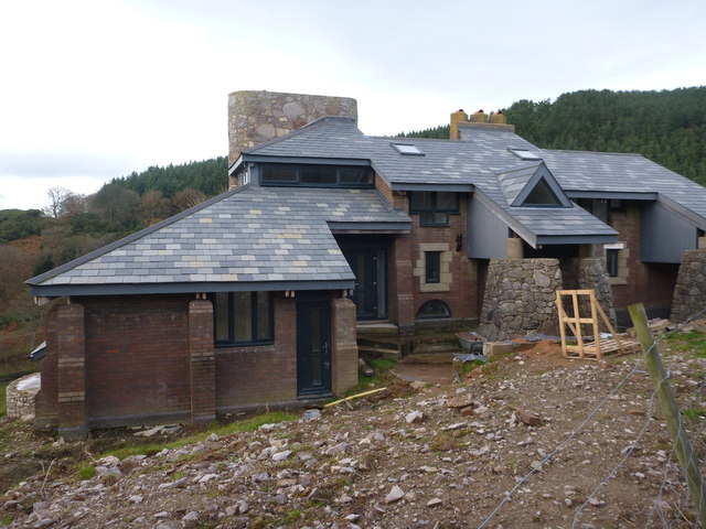 New Build nearing completion, Llangwyfan valley