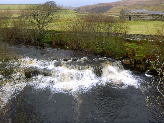 Ledge drop on the Upper Swale - low water