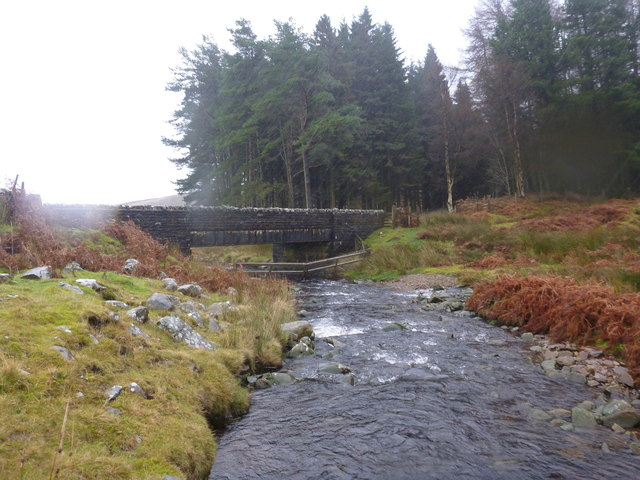 River Hodder at Cross of Greet Bridge