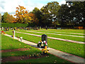 SP0775 : Ground prepared for new burials, Wythall Cemetery by Robin Stott