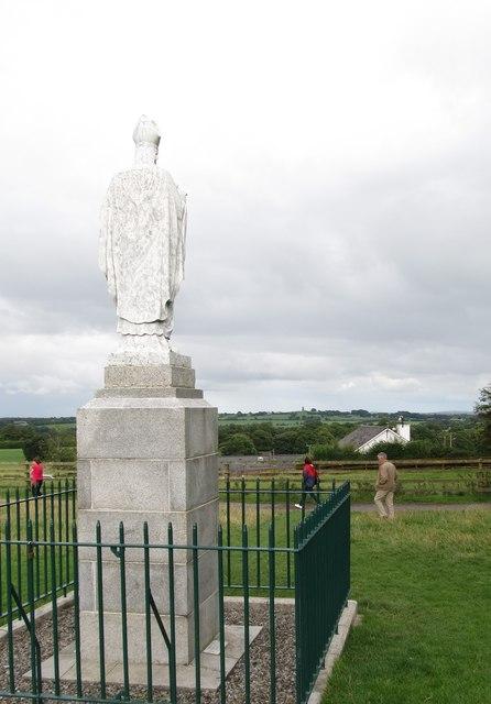 A statue of St Patrick near the former Anglican St Patrick's Church, Tara