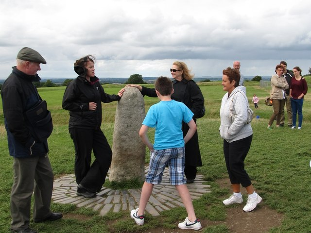 "OPW Guide explaining the signifcance of ""The Stone of Destiny"" at Tara"