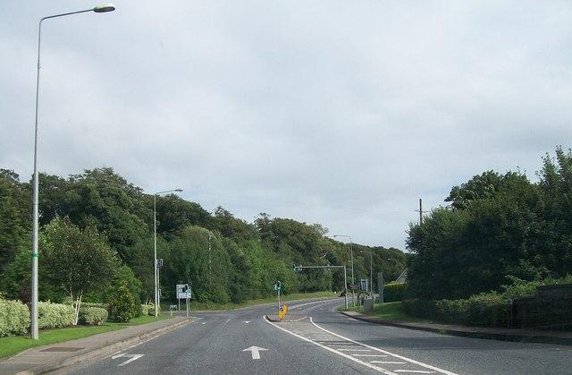 Cross roads on the R147 just south of Kilcairn Bridge