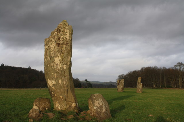 Standing stones at Nether Largie.