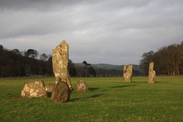 The standing stones at Nether Largie.