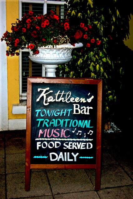 Bunratty - Kathleen's Bar - Sign near Entrance