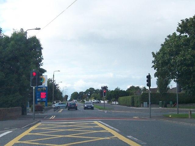 The R162 in the northern suburbs of Navan