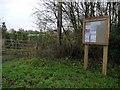SJ8360 : Astbury Parish Council noticeboard by Christine Johnstone
