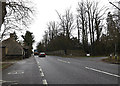 TL2159 : A428 Cambridge Road & Layby by Adrian Cable