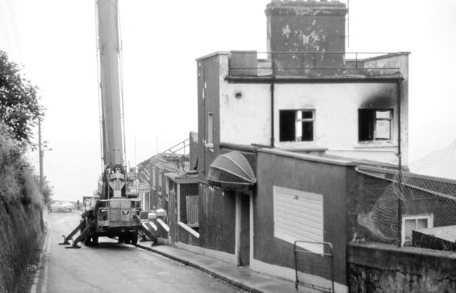 Demolition Of The Asgard Hotel Howth 1982