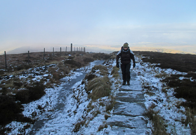 Ice on the path to Shining Tor