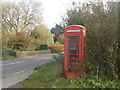 ST8013 : Fiddleford: red phone box by Chris Downer