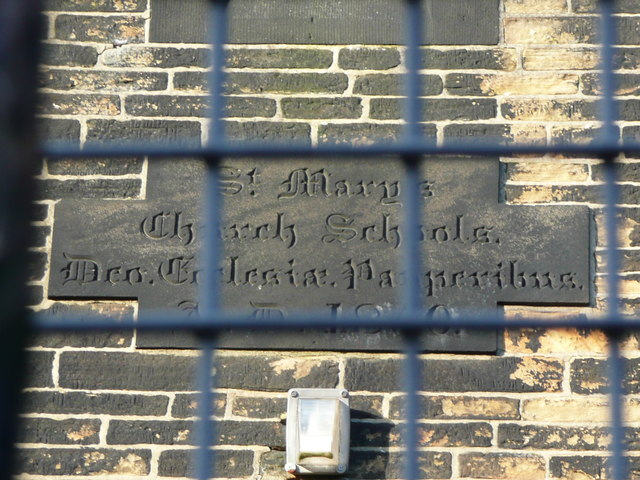 Date Stone On St Mary S Primary School 169 Humphrey