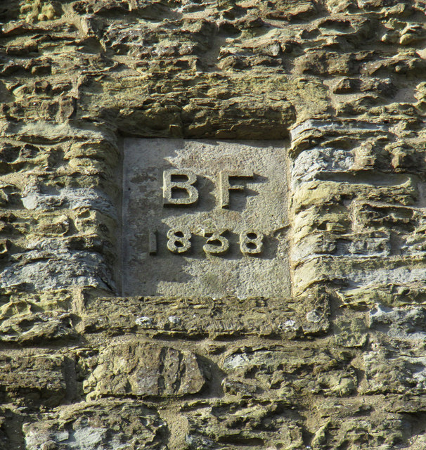 Benjamin Flounders' initials