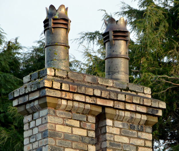 Chimney and chimney pots, Sydenham Avenue, Belfast