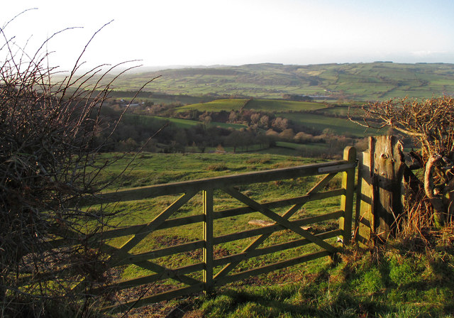 View from the Bromlow Callow road