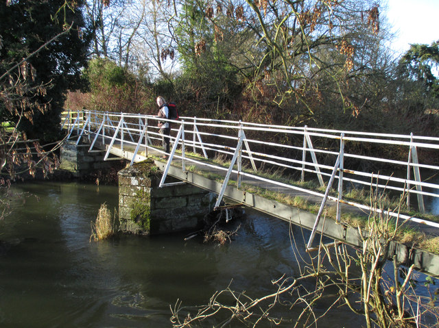 Footbridge over the River Onny