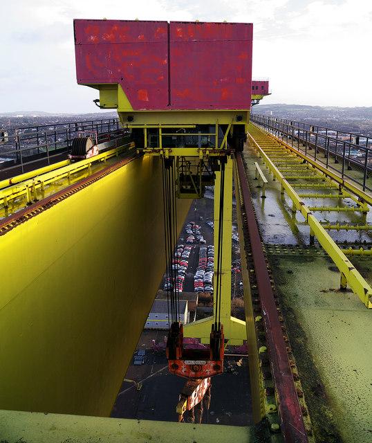 Lifting gear on 'Samson', Belfast