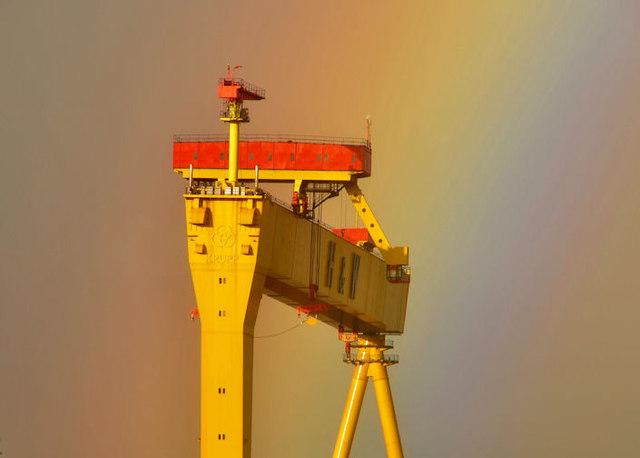 """Goliath"" and rainbow, Belfast"