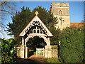 SU6894 : Watlington: St Leonard's Church Lych Gate by Nigel Cox