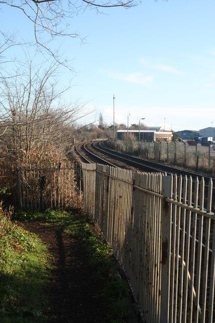 Railway lines towards Lowestoft