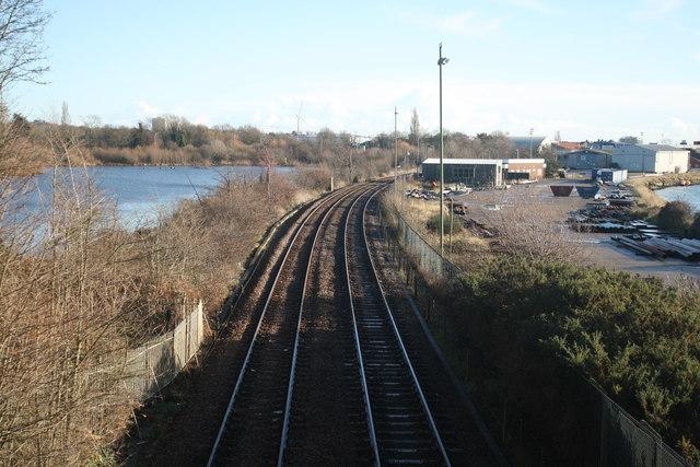 Norwich to Lowestoft railway