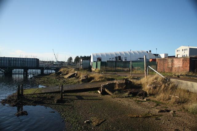Derelict Slipway and Boatyard Buildings