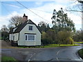 TL2878 : Cottage on the corner in Broughton by Richard Humphrey