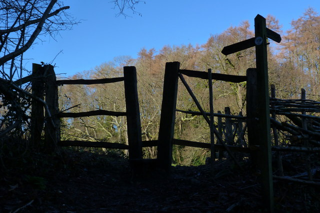 Squeeze stile from Huckers Lane to Church Meadow, Selborne
