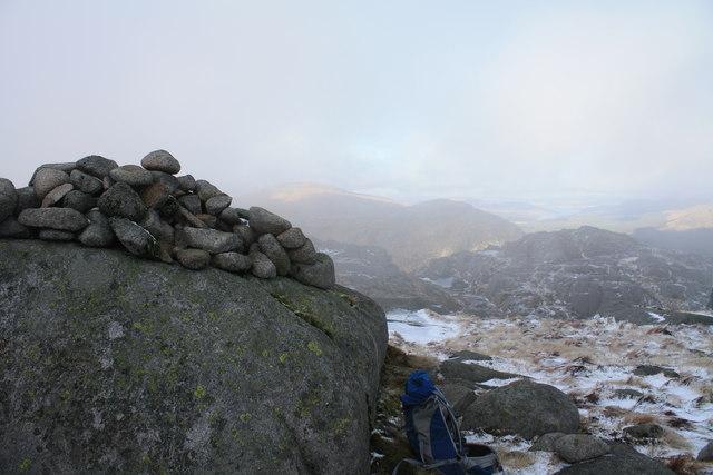 Craignaw summit cairn