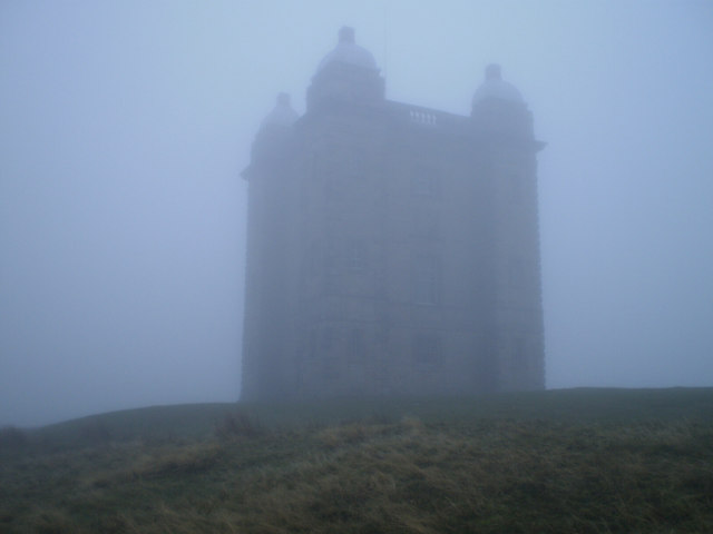Lyme Cage in the fog