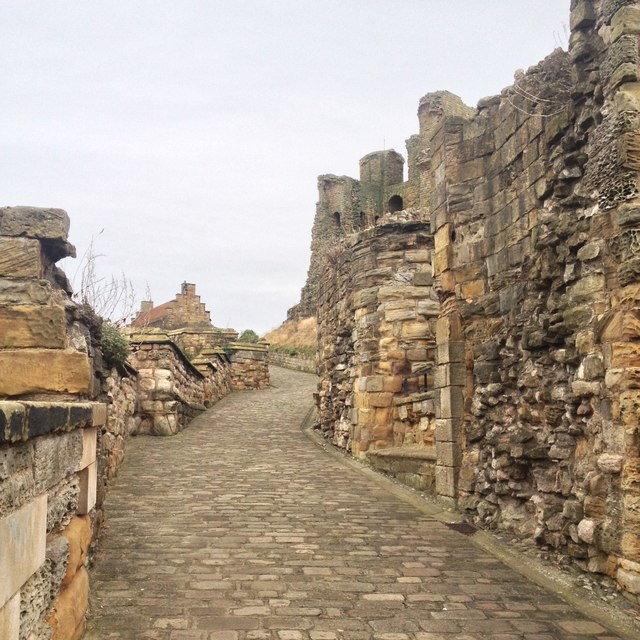 Path up to Scarborough castle