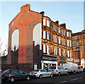 NS5964 : Gable end mural on Gallowgate by Thomas Nugent