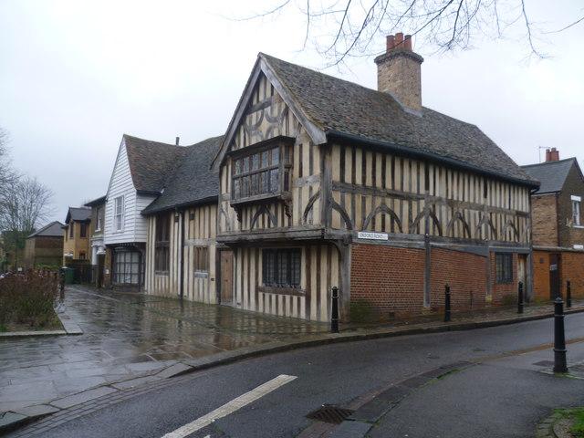 half timbered house walthamstow village marathon geograph britain and ireland. Black Bedroom Furniture Sets. Home Design Ideas