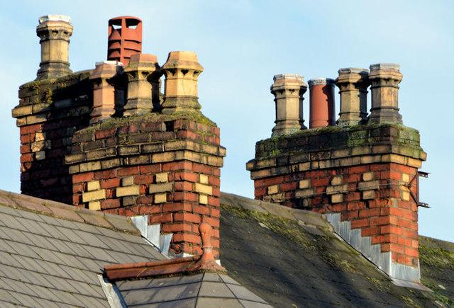 Chimneys and chimney pots, Balmoral, Belfast