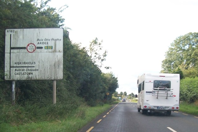 Warning of height restriction on the N52