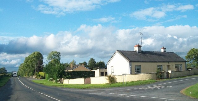 Cottages at the junction of the R162 and the L34012 at Arrigal