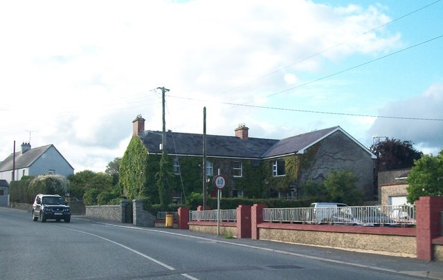 Ivy covered house on the R162 at Nobber, Co. Meath