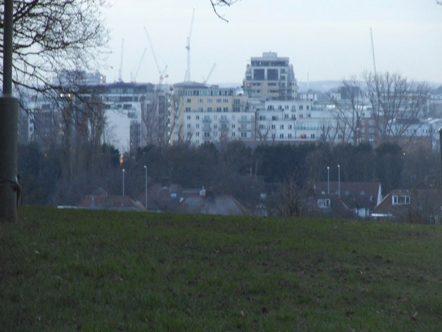 New flats in Colindale from Sunnyhill Park