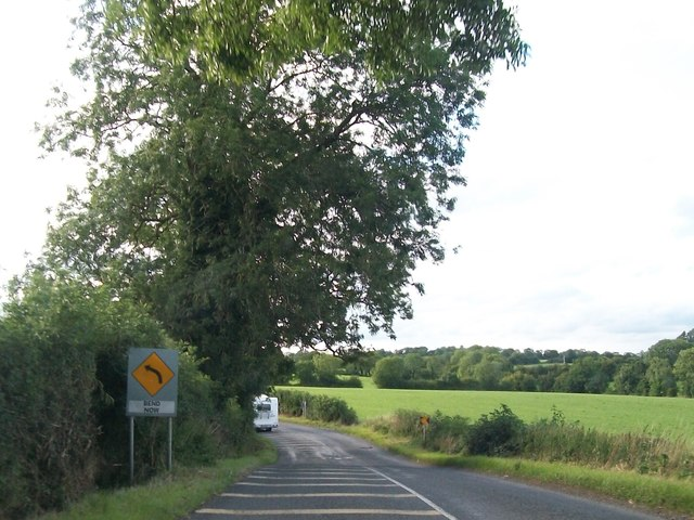 An invitation to Bend Now on the R162 north of Nobber