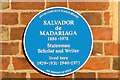 Photo of Salvador de Madariaga blue plaque